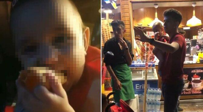 İnanılmaz olay…Dondurmacıda bebeğini unuttu